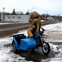 Generic Van Life - Drumheller - Motorcycle Dinosaur
