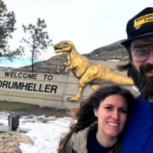 Generic Van Life - Justin and Olivia At The Drumheller Sign