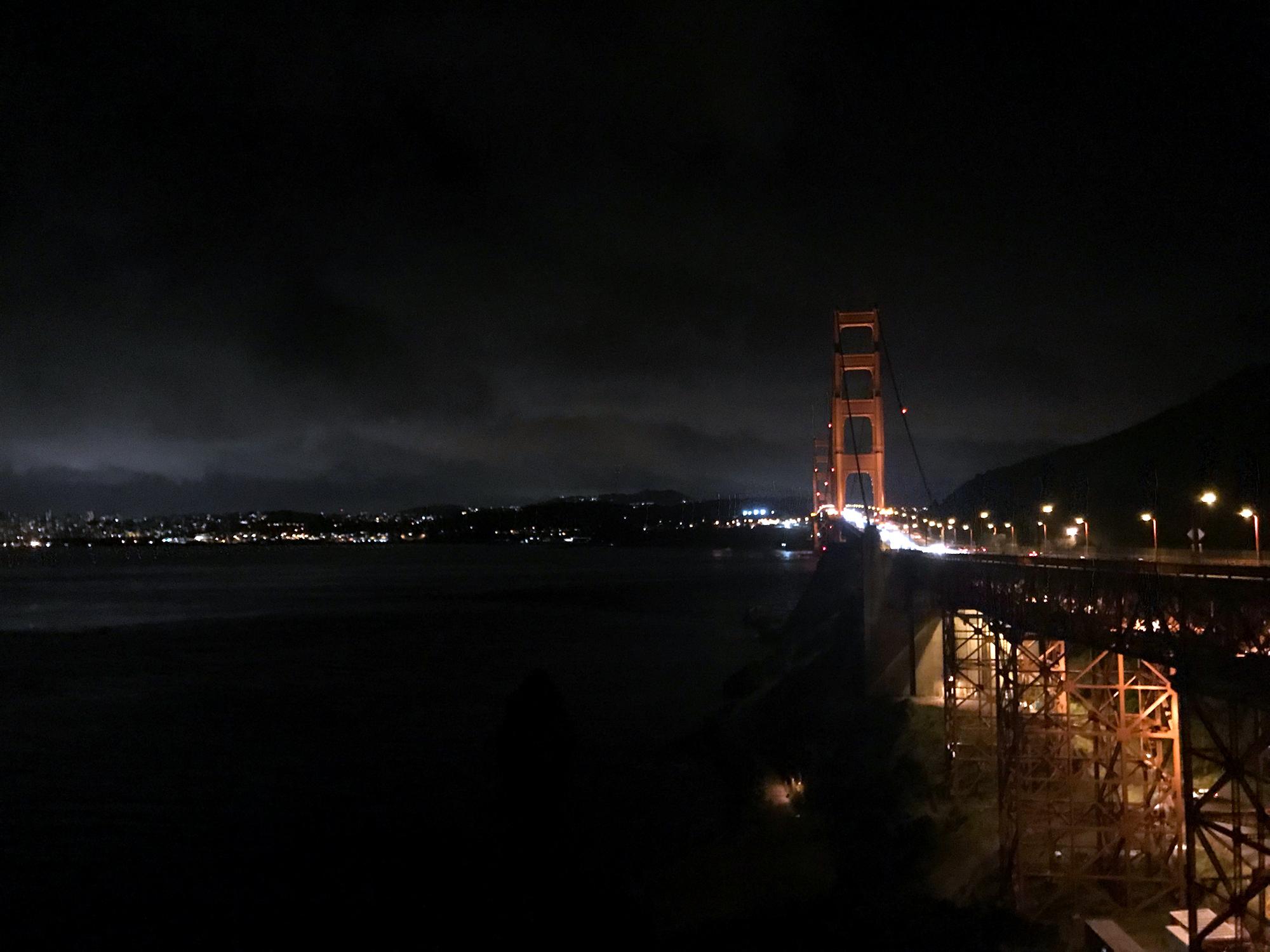 Generic Van Life - Northern California Golden Gate Night