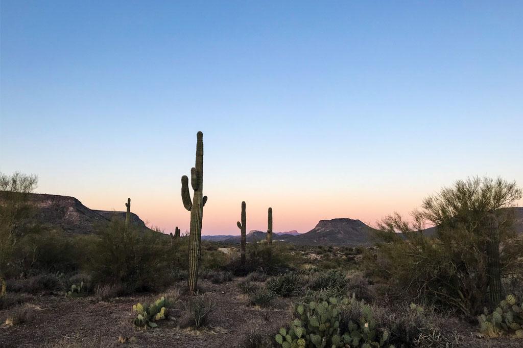 Generic-Van-Life-Camping-Spot-Black Canyon – Arizona – United-States-evening view