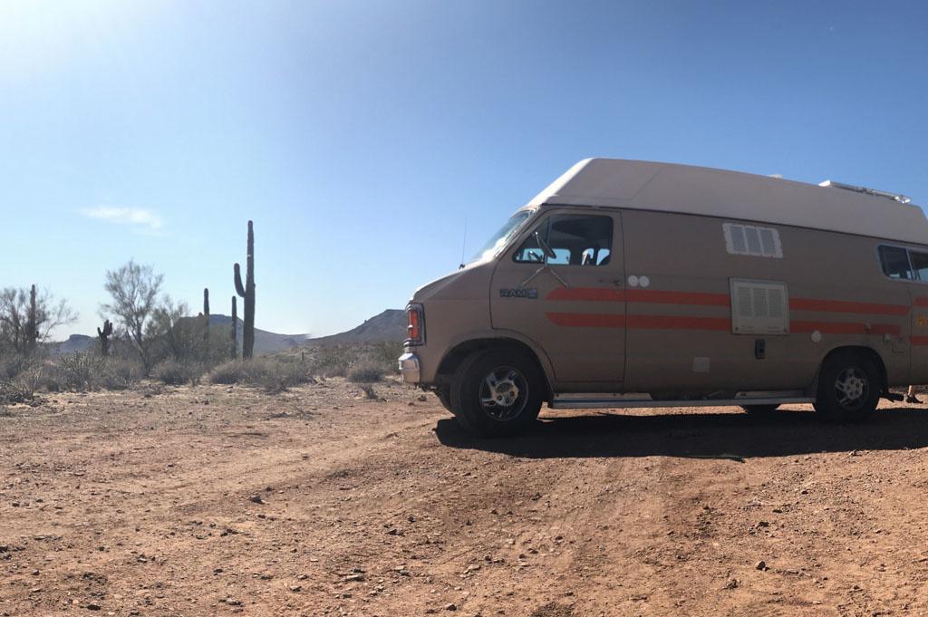 Generic-Van-Life-Camping-Spot-Black Canyon – Arizona-United-States-van view
