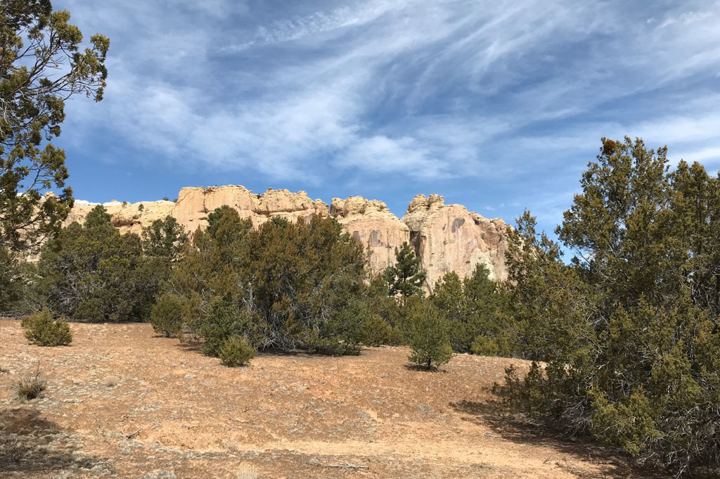 Generic-Van-Life-Camping-Spot-EL Morro National Monument -New Mexico-United-States-view from the camp 2