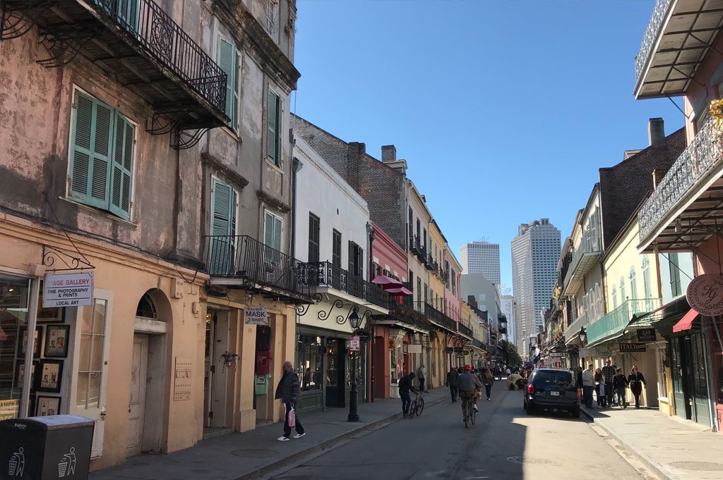 Generic-Van-Life-Camping-Spot-French Quarter – New Orleans -United-States-view down the street