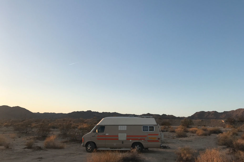 Generic-Van-Life-Camping-Spot-Joshua Tree South – California -United-States-camping spot view wide