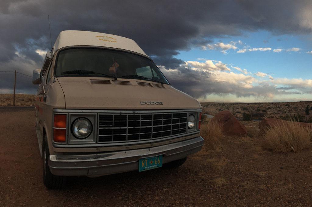 Generic-Van-Life-Camping-Spot- Mchood Park-Arizona – United-States-rear van view