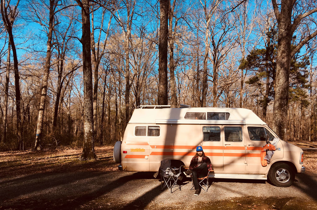 Generic-Van-Life-Camping-Spot-Mike Freeze WMA-Arkansas-United-States-view of the campsite