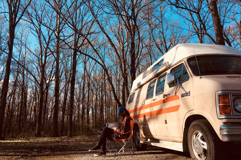 Generic-Van-Life-Camping-Spot-Mike Freeze WMA-Arkansas-United-States-view of the campsite – justin