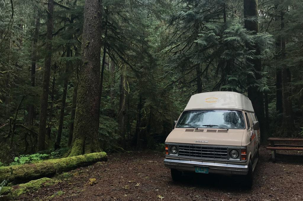 Generic-Van-Life-Camping-Spot- Nahmint Lake – Vancouver Island – British Columbia – campsite