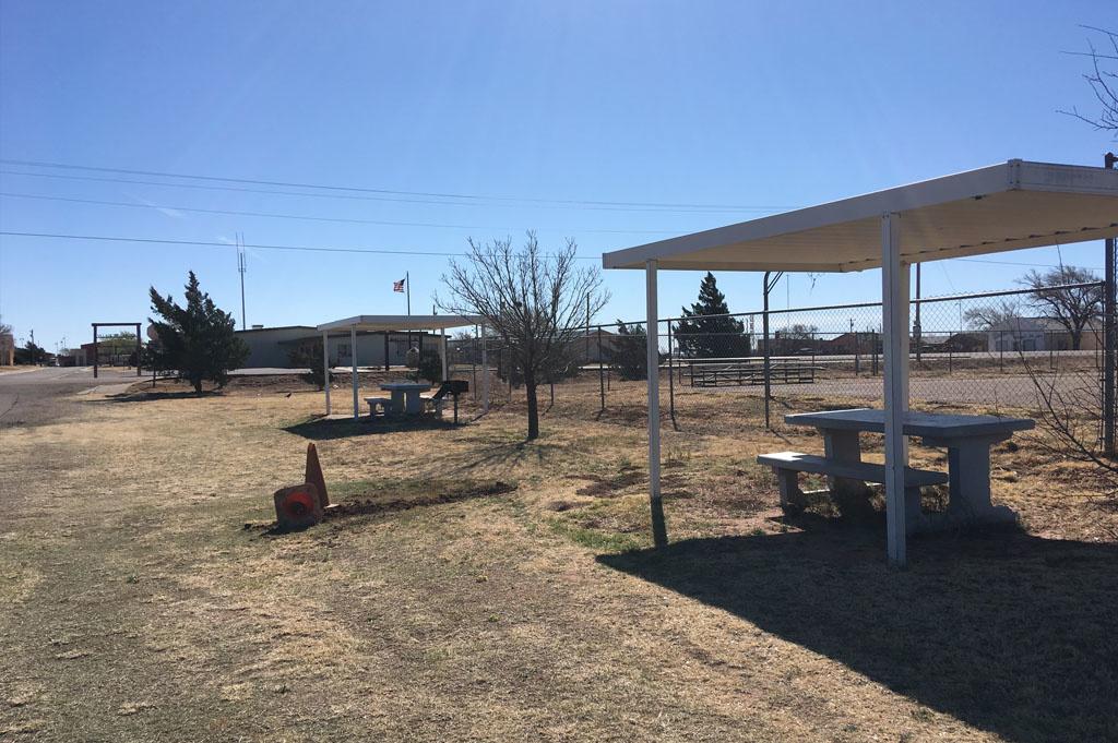 Generic-Van-Life-Camping-Spot- San Jon City Park -New Mexico-United-States-campsite view