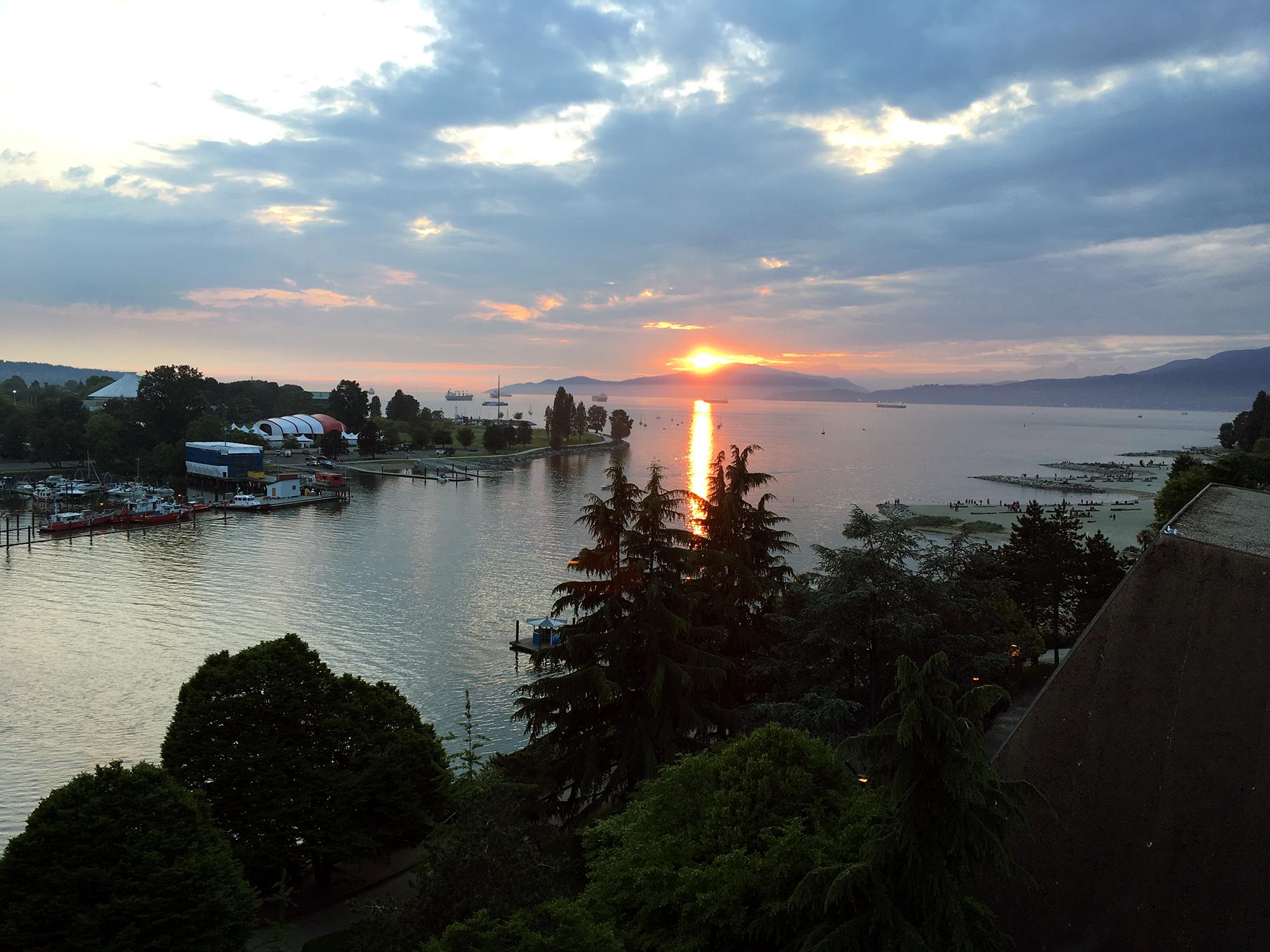 Generic Van Life - Vancouver Sunset Burrard Bridge