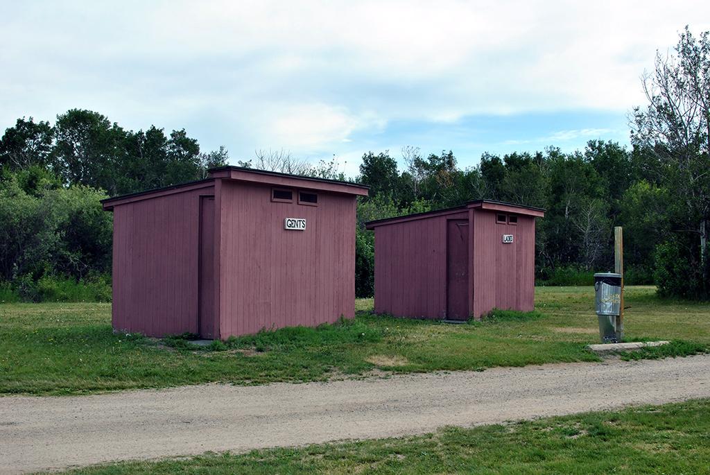 Generic-Van-Life-Camping-Spot-Lanigan-Rest-Area-Saskatchewan-Outhouse
