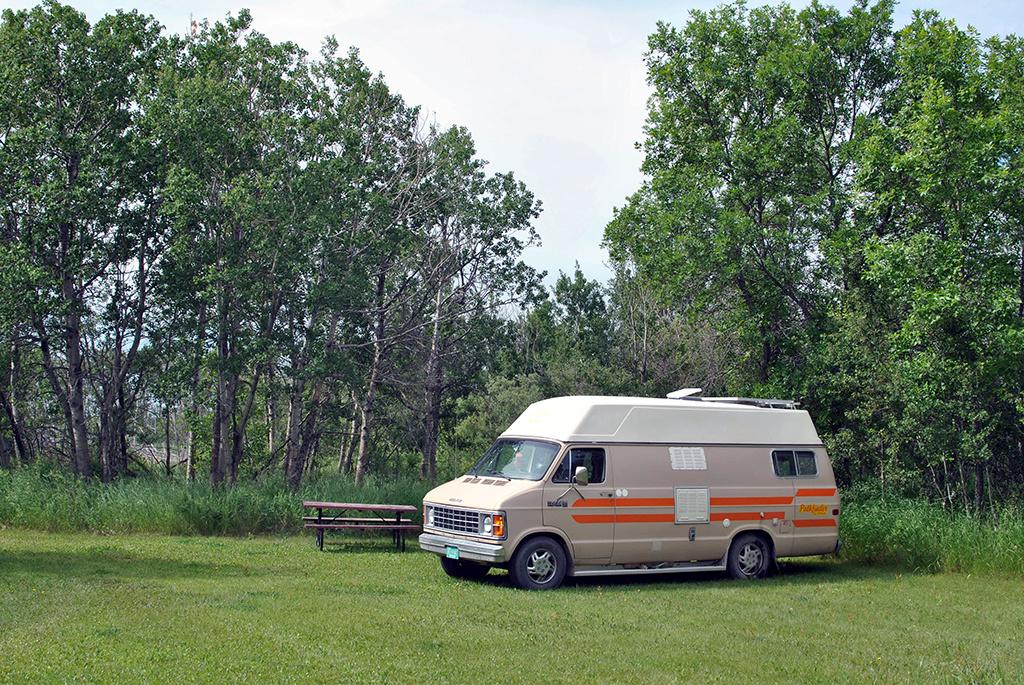 Generic-Van-Life-Camping-Spot-Lanigan-Rest-Area-Saskatchewan-Van