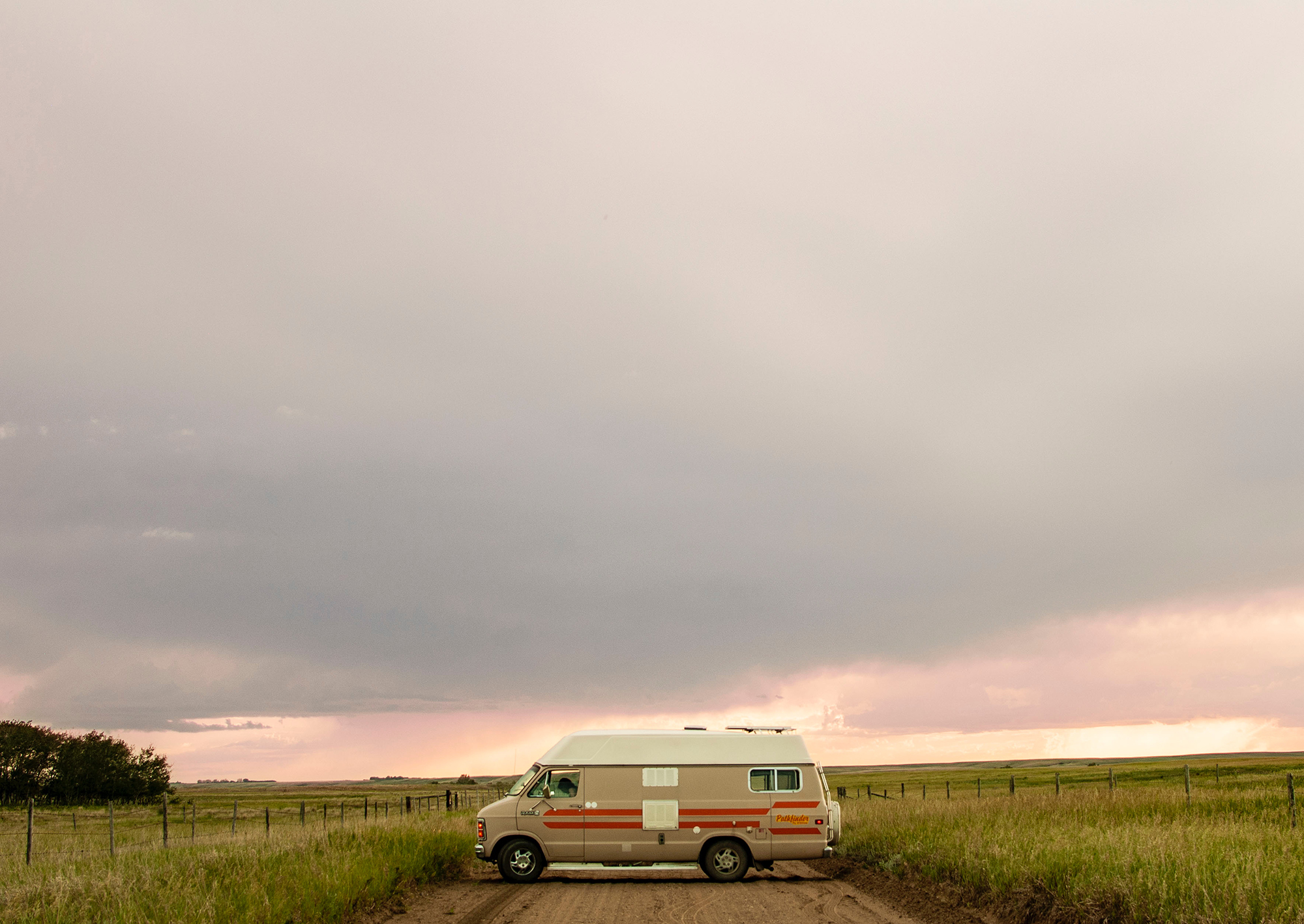 Generic Van Life - Saskatchewan Colourful Sky