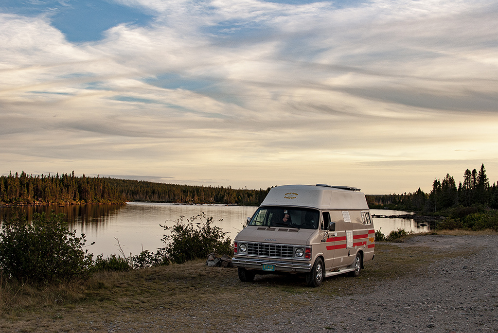 Generic-Van-Life-Alexander-Bay-Newfoundland-Sunset