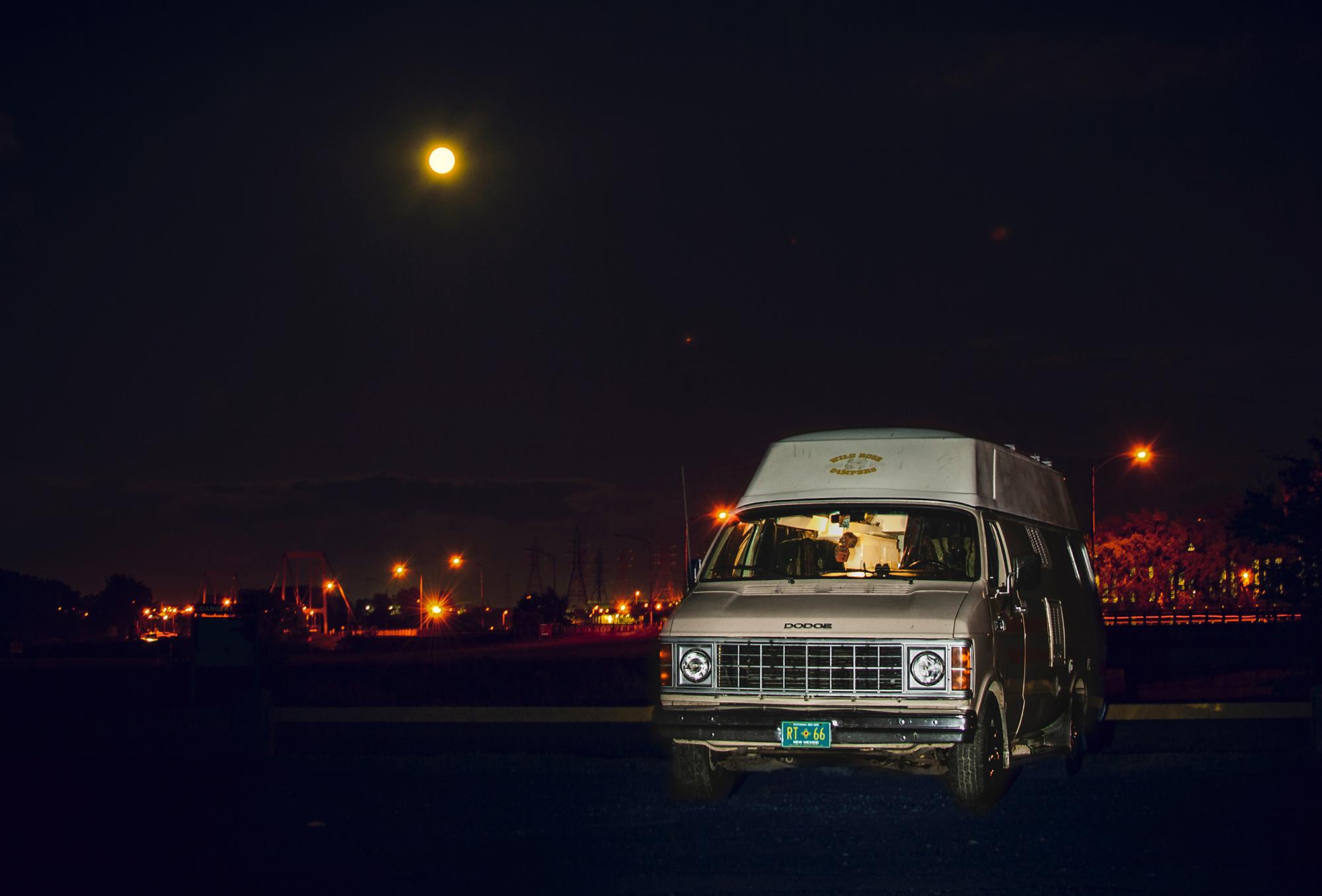 Generic Van Life - Quebec Beauharnois Night Shot