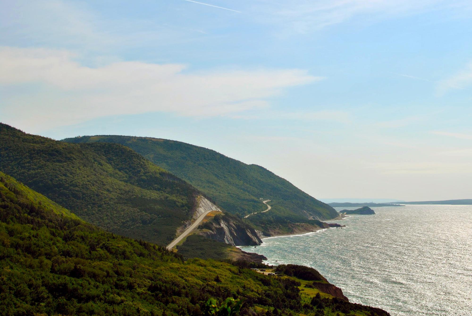 Generic Van Life Cape Breton Highlands Road