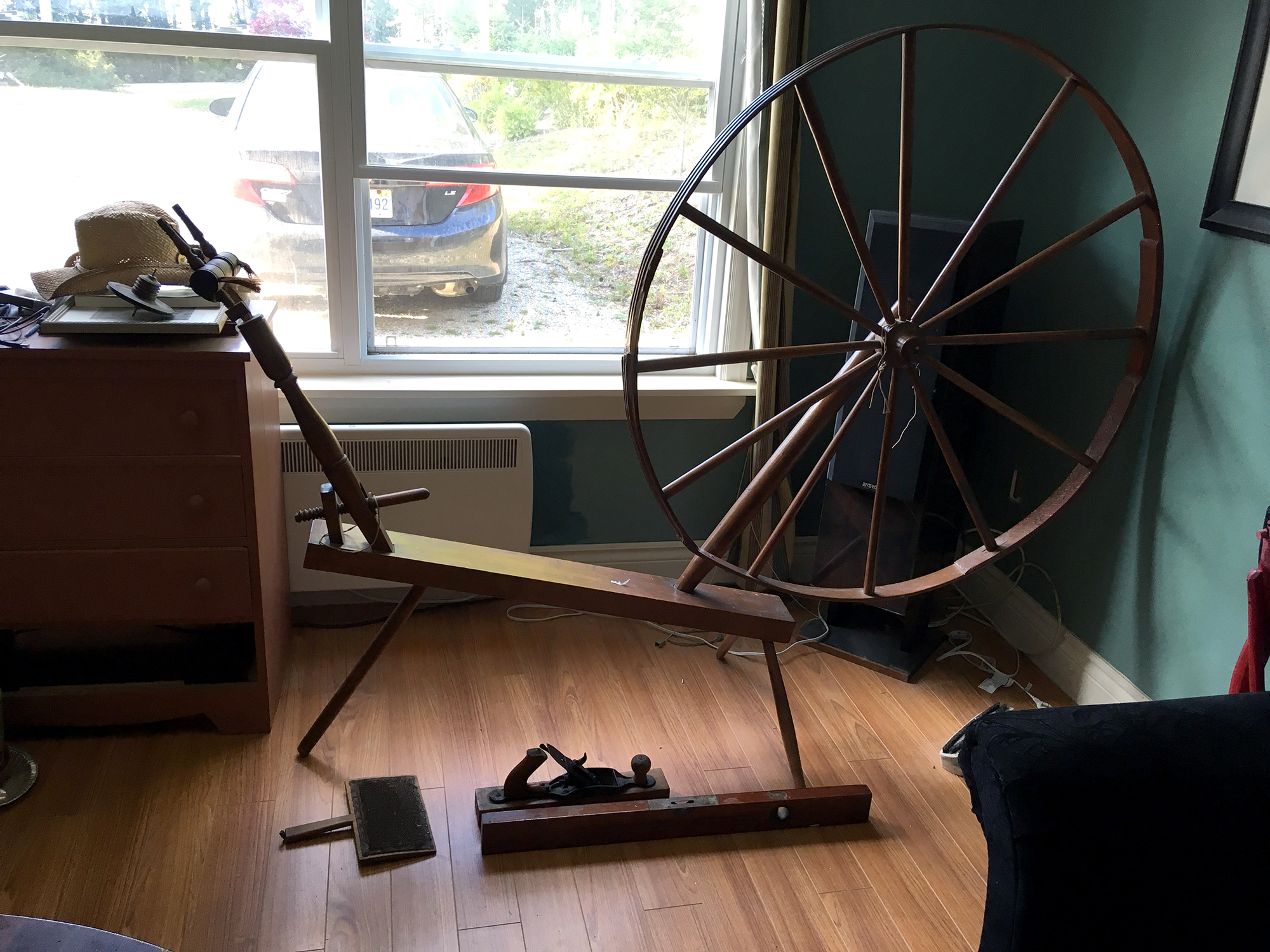 Generic Van Life - Mainland Nova Scotia Antique Spinning Wheel