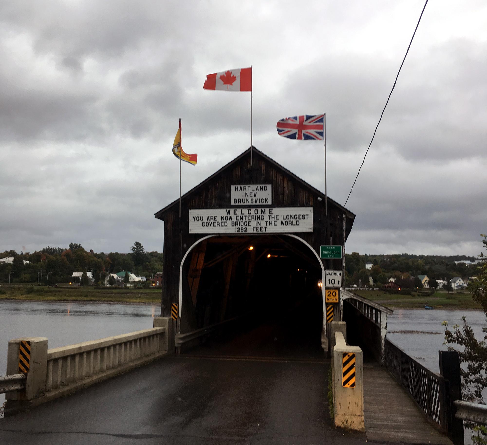 Generic Van Life New Brunswick Part II Hartland Bridge