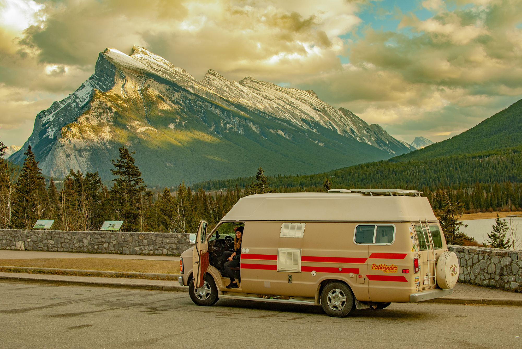 Generic Van Life - Banff Canmore Mt Rundle