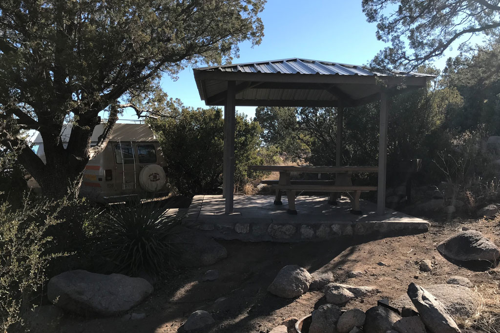 Generic-Van-Life-Camping-Spot-Aguirre Springs-New Mexico-United-States-gazebo