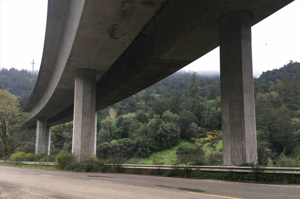 Generic-Van-Life-Camping-Spot- Benbow Drive – California -United-States-view of the overpass