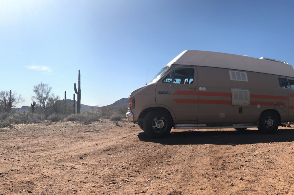 Generic-Van-Life-Camping-Spot-Black Canyon – Arizona-United-States-van view