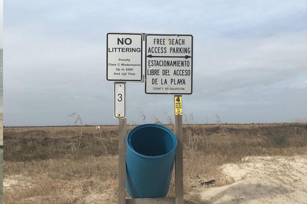 Generic-Van-Life-Camping-Spot-Bolivar Flats – Texas-United-States-trash