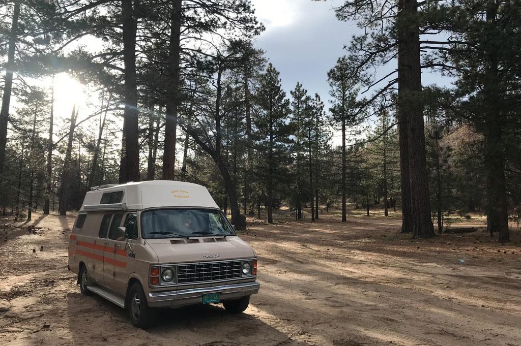 Generic-Van-Life- Camping-Spot – East Jenks Lake – California – United States – Camping spot with van