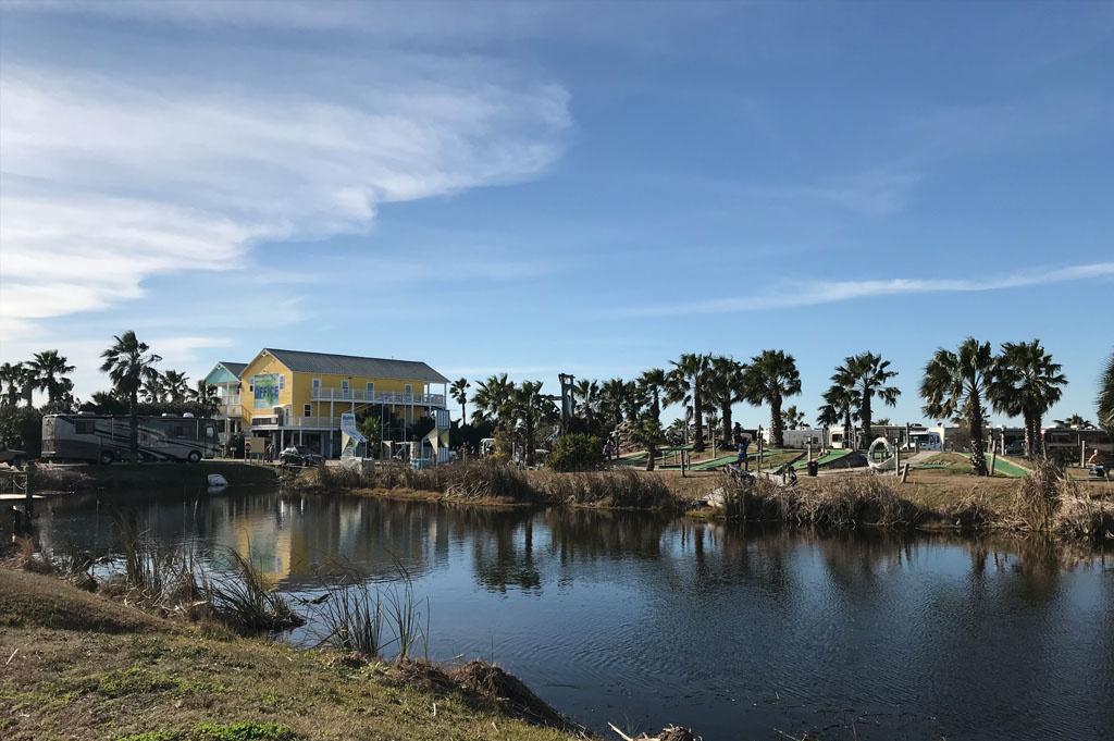Generic-Van-Life-Camping-Spot-Jamaica Beach RV Park – Texas-United-States-lake