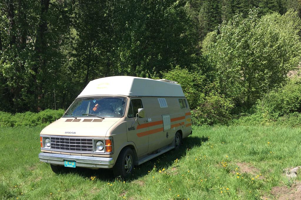 Generic-Van-Life-Camping-Spot- Jolly Creek – British Columbia – view of van