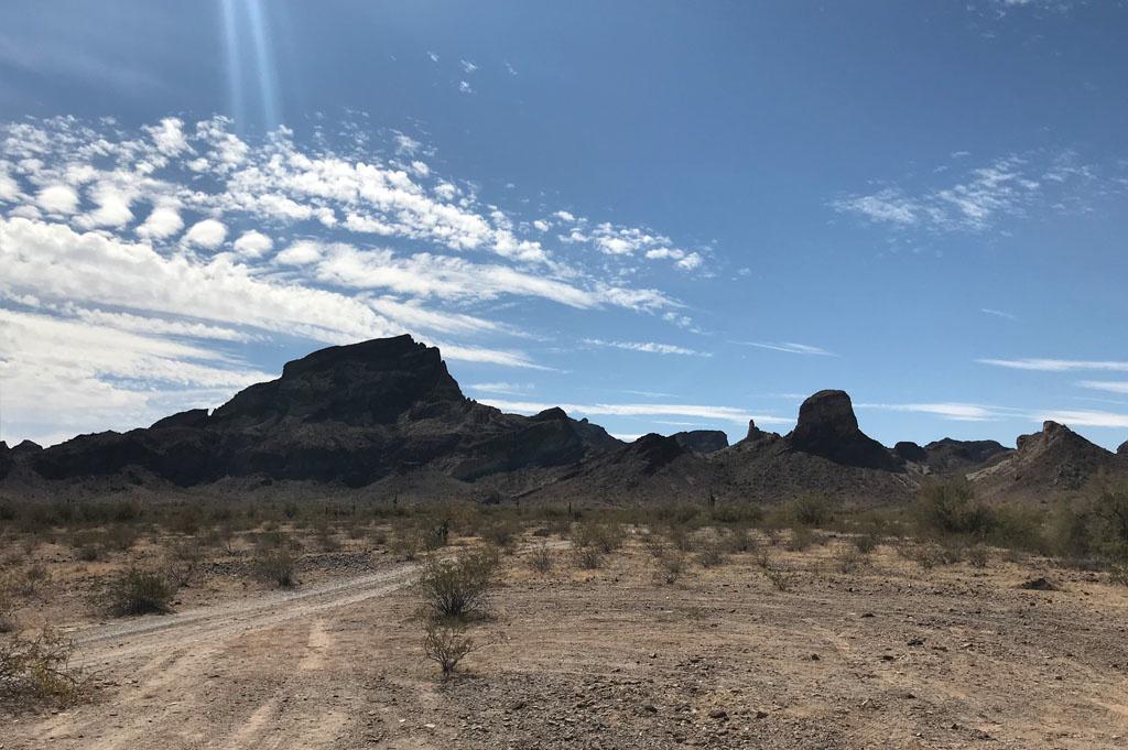 Generic-Van-Life-Camping-Spot- Saddle Mountain – Arizona – United-States-morning view
