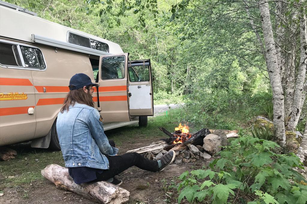 Generic-Van-Life-Camping-Spot- Skagit River – British Columbia – campfire