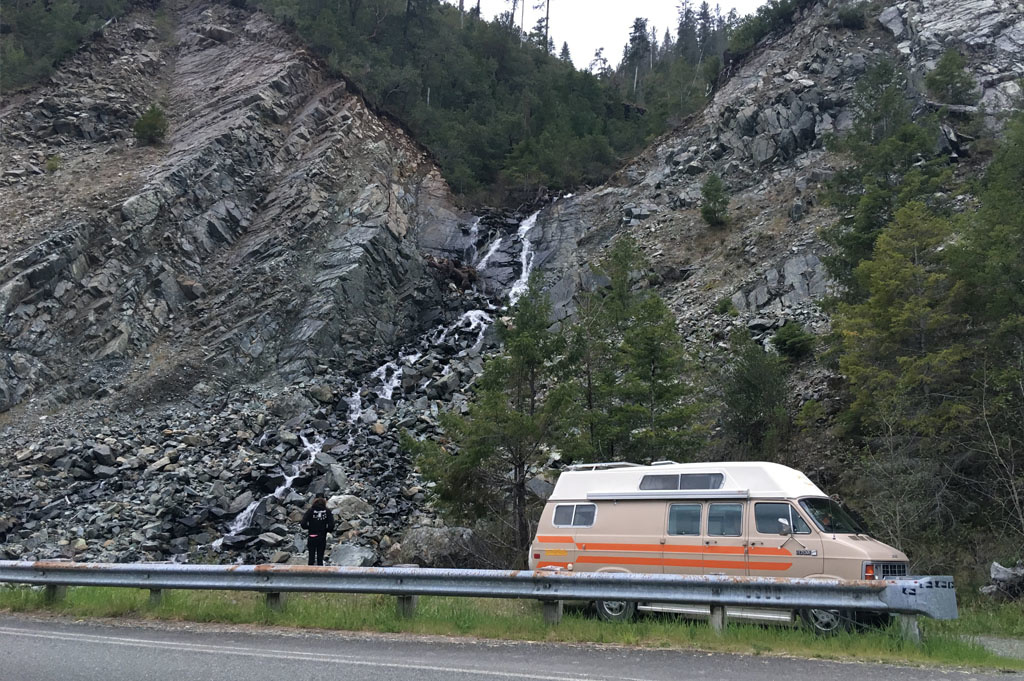 Generic-Van-Life-Camping-Spot- Smith River – California -United-States-view from roadside turn out