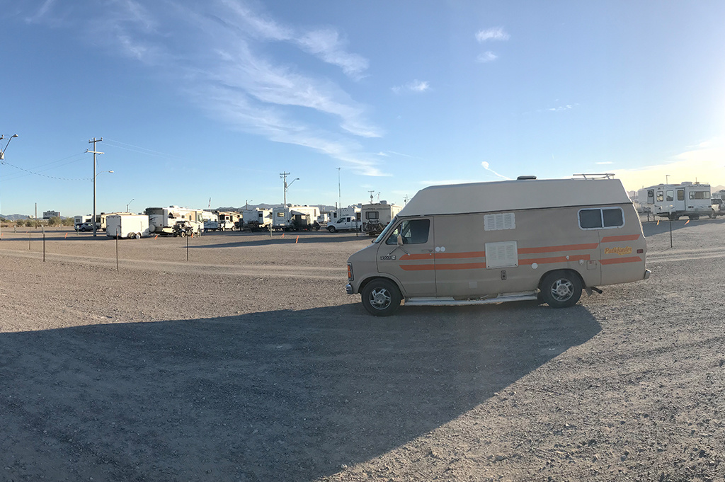 Generic Van Life – Camping Spot – Wash At Tyson Well Quartzsite Arizona United States – Wash View