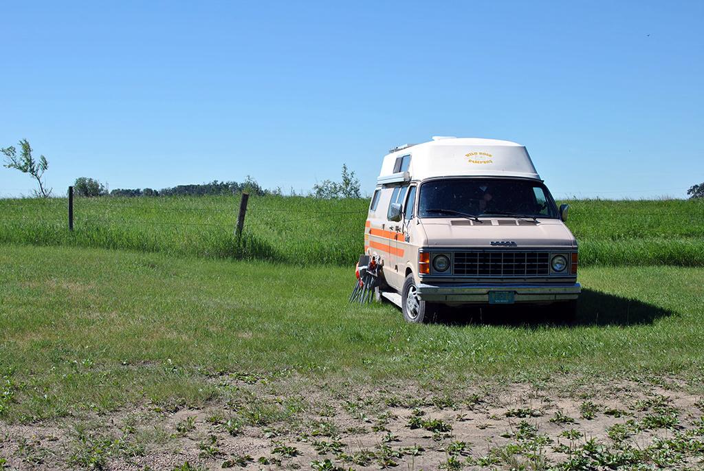Generic-Van-Life-Camping-Spot-Elstow-Rest-Area-Saskatchewan-Van