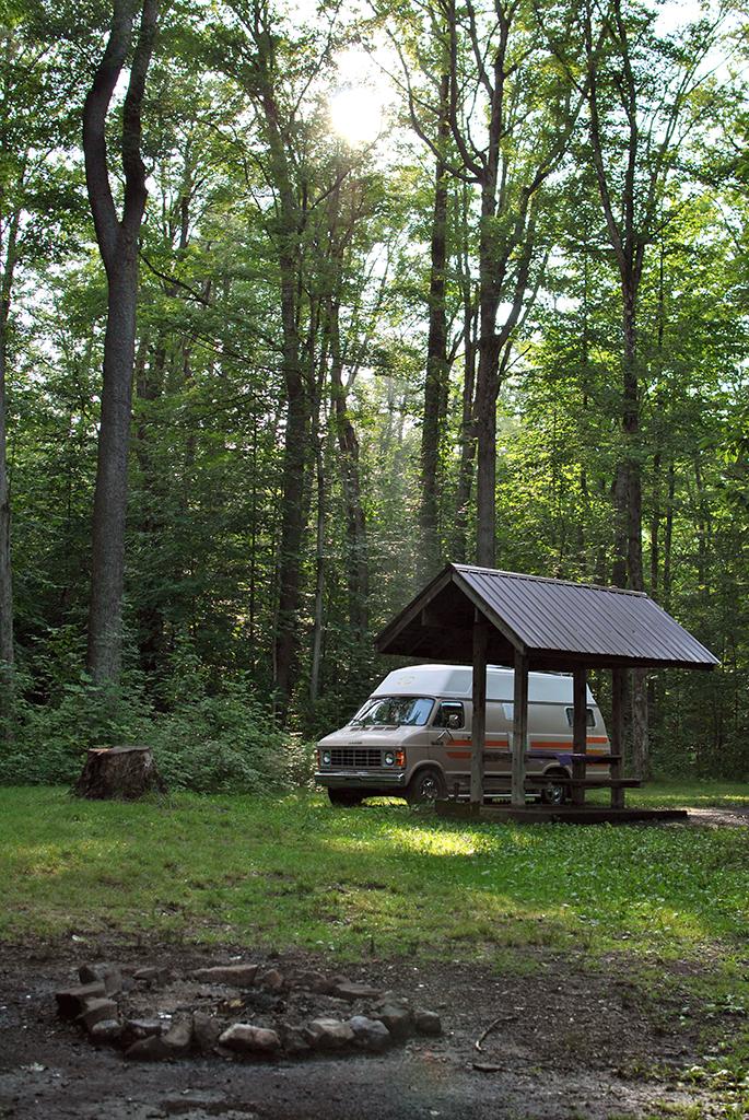 Generic Van Life - Great Lakes New York Campsite