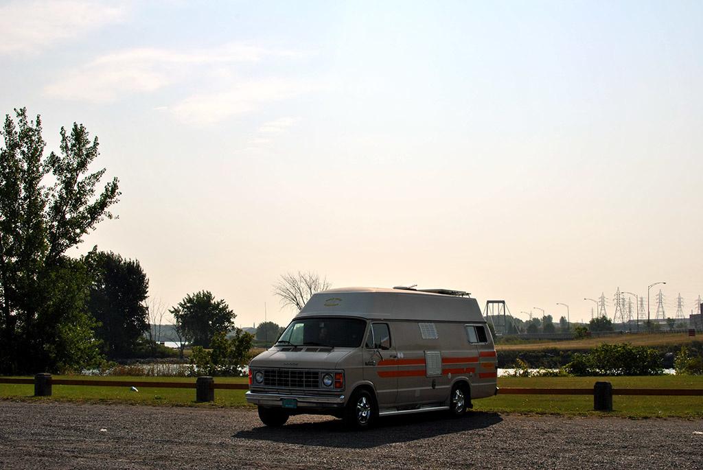 Generic-Van-Life-Camping-Spot-Beauharnois-Dam-Québec-Van