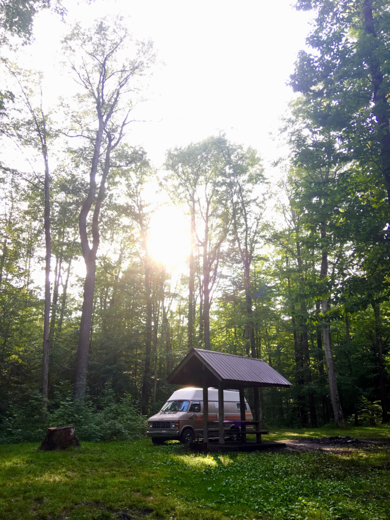 Generic Van Life - Great Lakes New York North Harmony State Forest