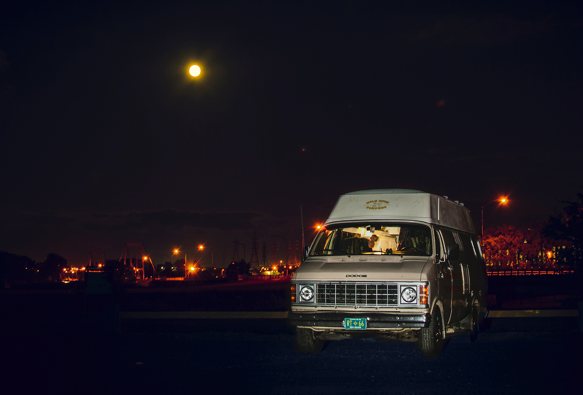 Generic Van Life - Quebec Beauharnois Night Shot