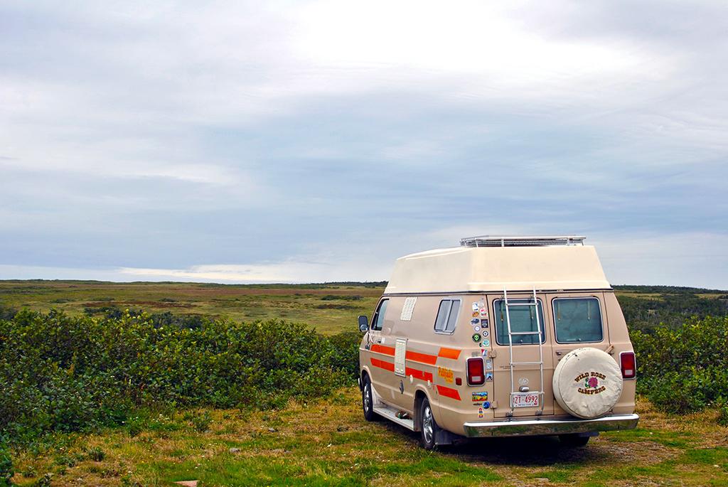 Generic-Van-Life-Camping-Spot-Cape-St-Marys-Newfoundland-Van