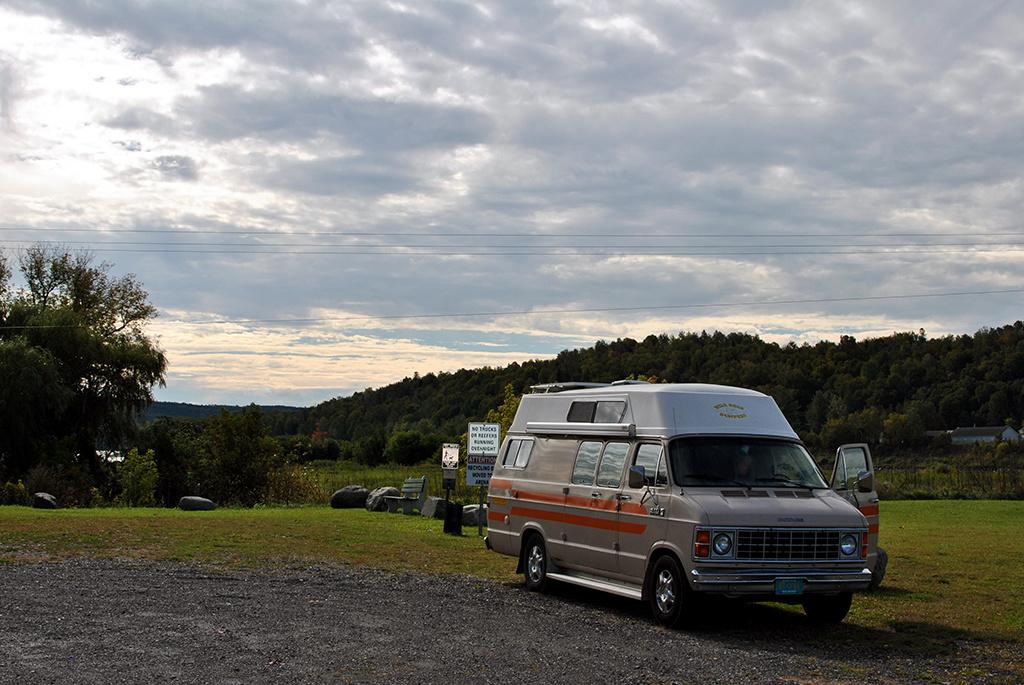 Generic-Van-Life-Camping-Spot-Hartland-Covered-Bridge-New-Brunswick-Grass
