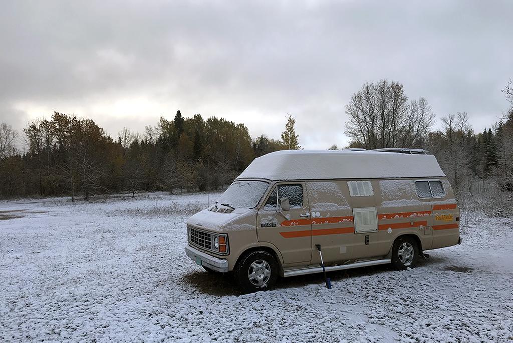 Generic Van Life - Northern Ontario Snowy Van