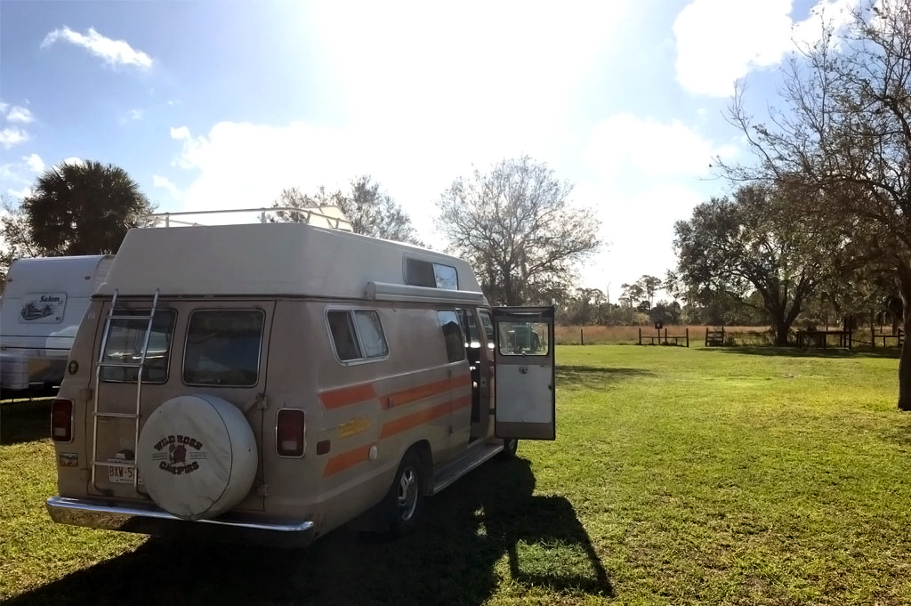 Generic-Van-Life-Camping-DuPuis-WMA-Florida-United-States-our-spot-for-the-night-1024×681