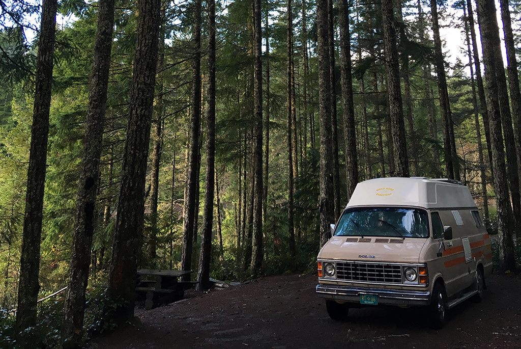 Generic-Van-Life-Camping-Spot-Burnt-Beach-British-Columbia-Campsite