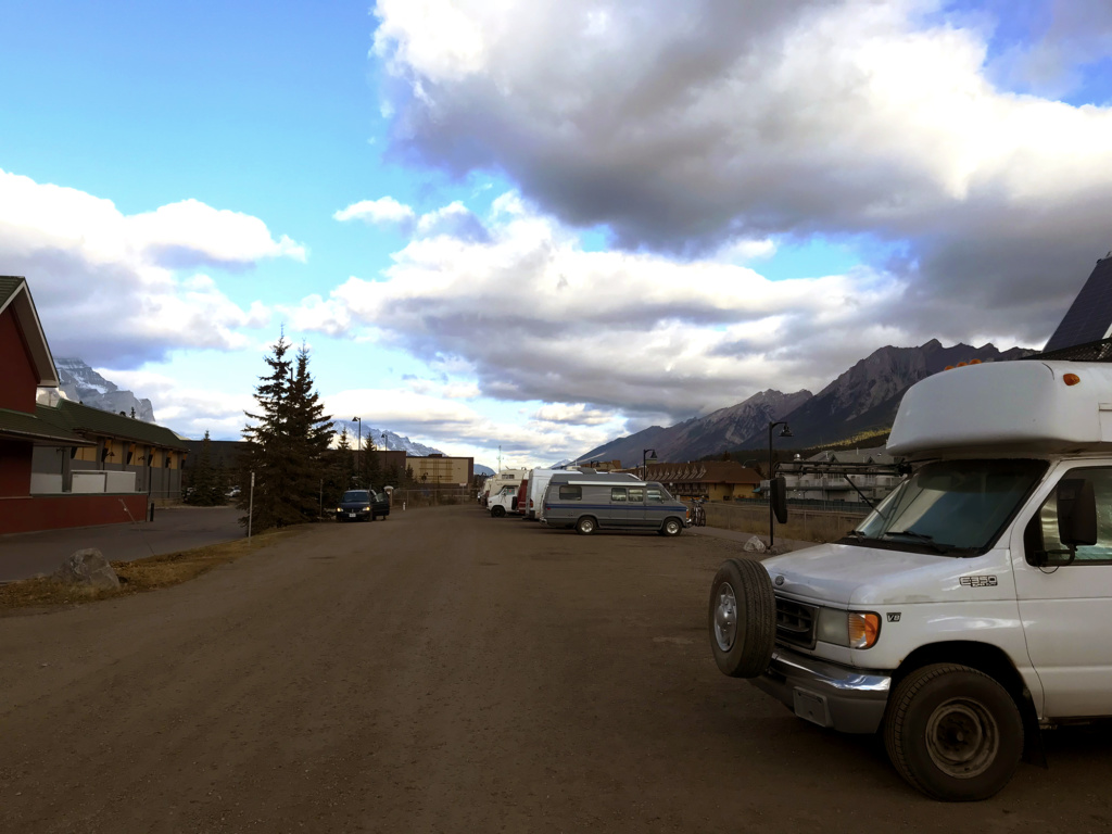 Generic-Van-Life-Camping-Spot-Downtown-Canmore-Parking-Alberta-RVs