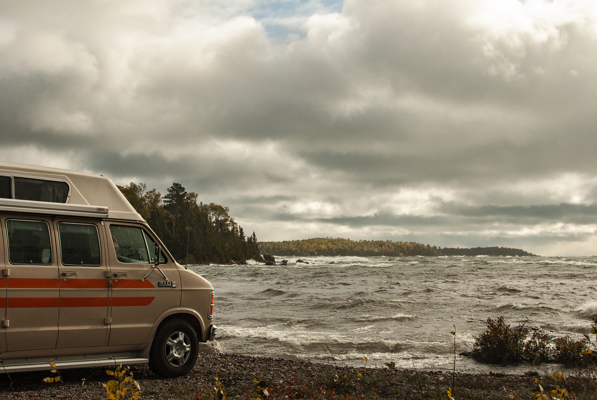Generic Van Life - Northern Ontario Lake Superior - Road Side Turn Out