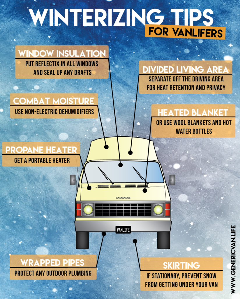 Generic Van Life - Winterization Tips