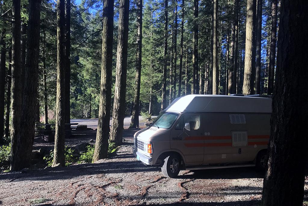 Generic-Van-Life-Camping-Spot-Twin-Lake-British-Columbia-Campsite