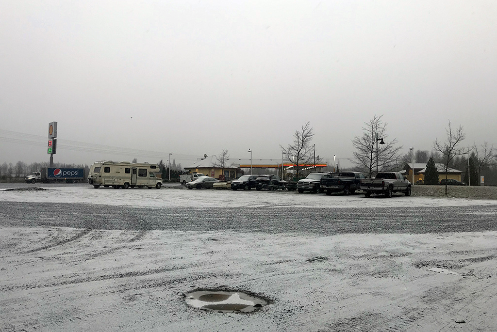 Generic-Van-Life-Camping-Spot-Island-Highway-Shell-British-Columbia-Parking-Lot