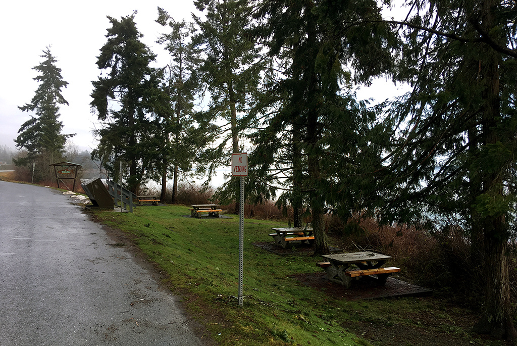 Generic-Van-Life-Camping-Spot-Union-Bay-Rest-Area-British-Columbia-Tables